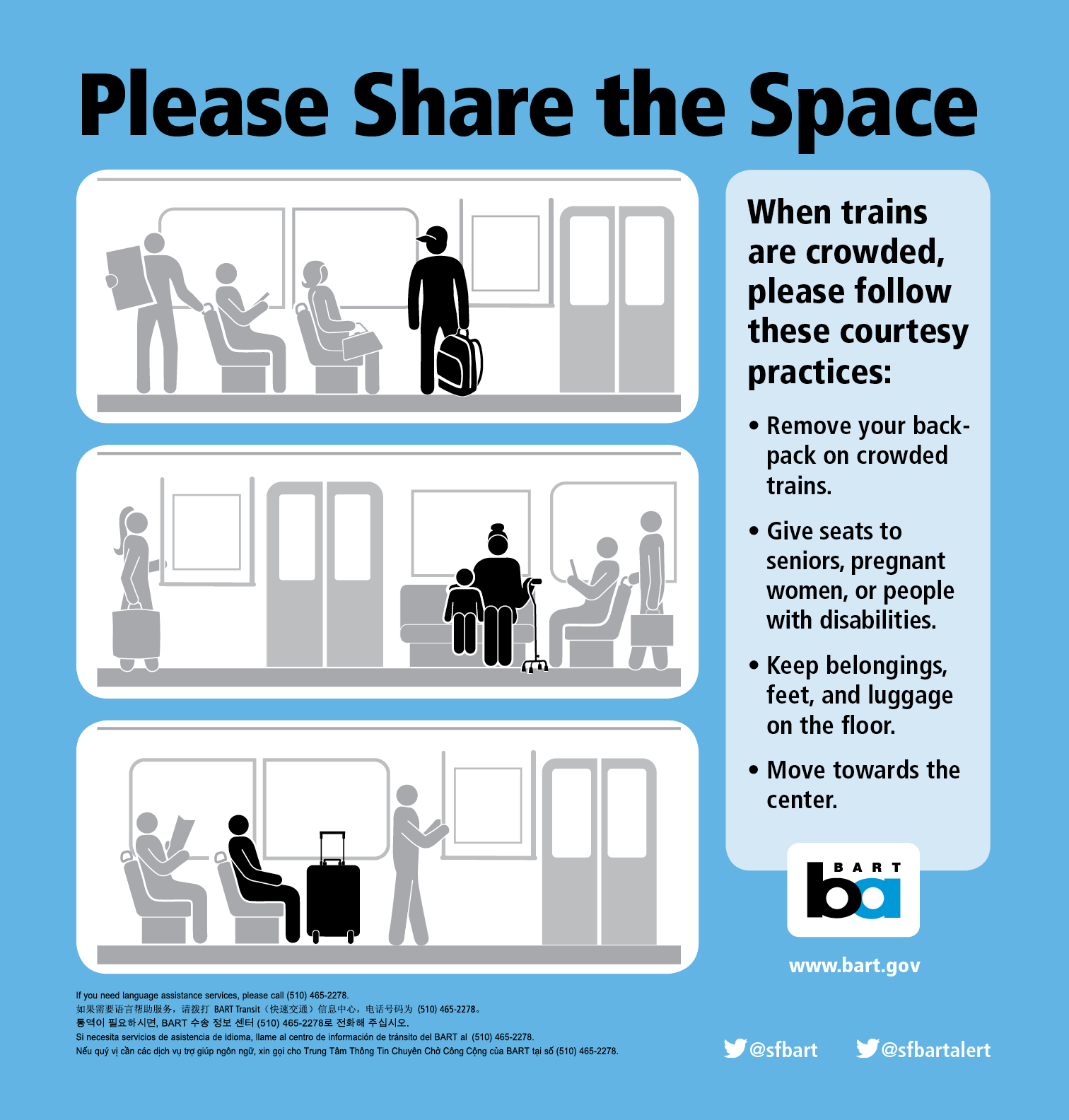 Tips on sharing space