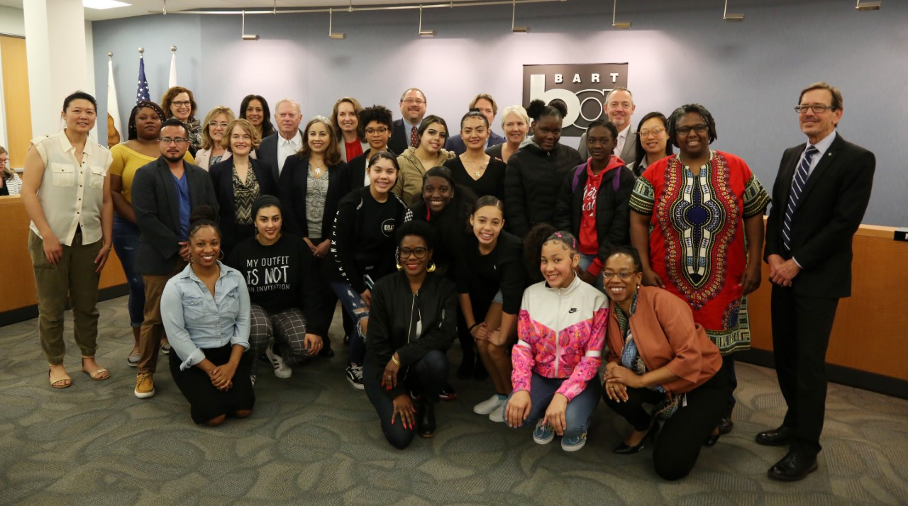 Alliance for Girls and BART Board and Staff