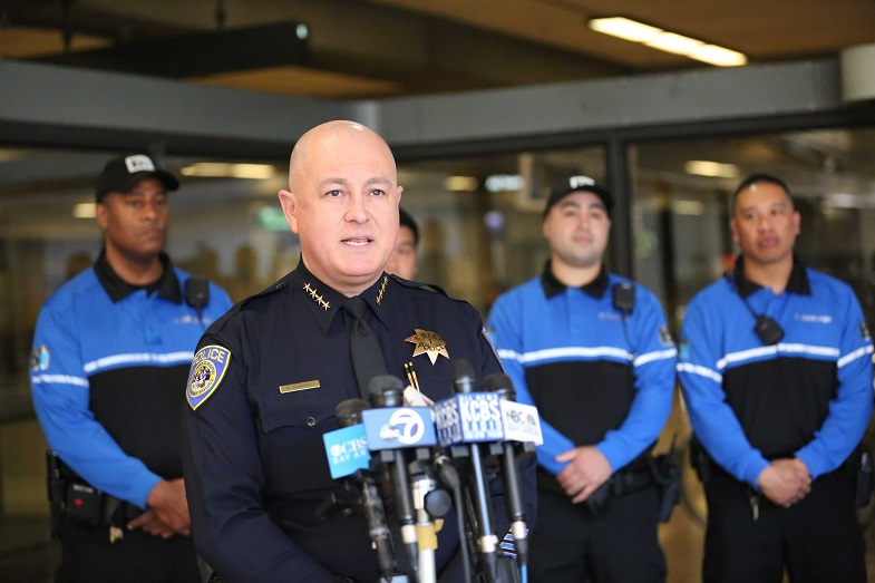 Chief Alvarez introduced the first group of BART PD Ambassadors to the public on Feb. 10, 2020