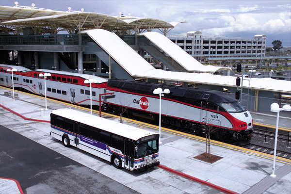 Millbrae Station, which connects BART to Caltrain, is the largest intermodal terminal west of the Mississippi. Take that, L.A.!