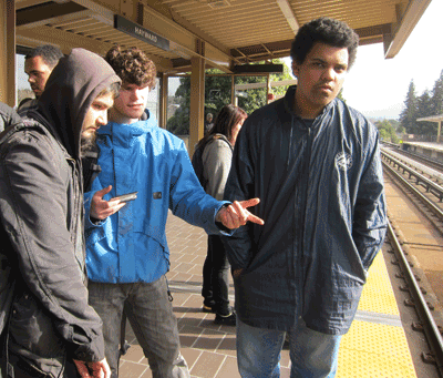 Bayhill students on platform
