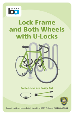 How to lock a bike safely