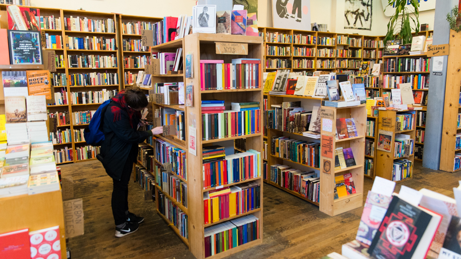 person shopping for books