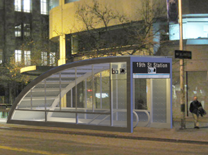 Artist's conception of escalator canopy