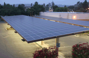 ex&le of canopies at night & Solar energy from parking lot canopy system to help power ...