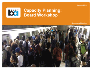 Cover of report on capacity, showing crowded platform