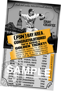 Eric Chavez golden ticket sample.