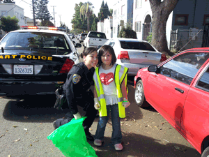 BART Police help with Fruitvale cleanup