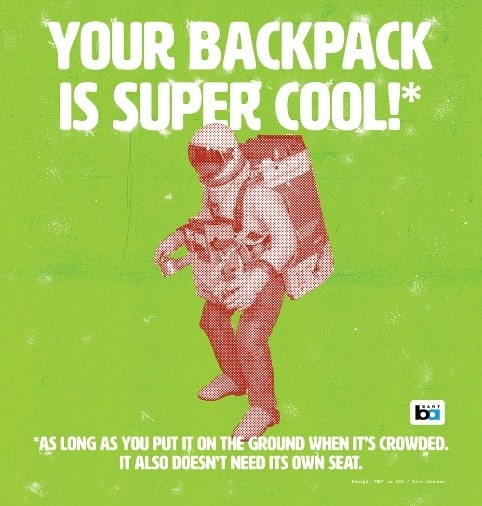 Backpack courtesy poster