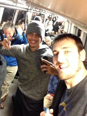 stephen curry on BART