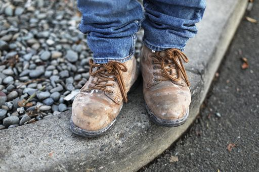day laborer's shoes