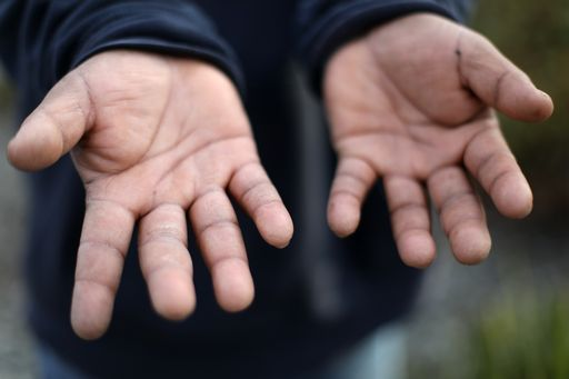 day laborer's hands