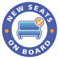 New seats on board decal