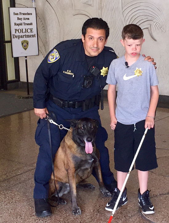 Gio with K-9 handler