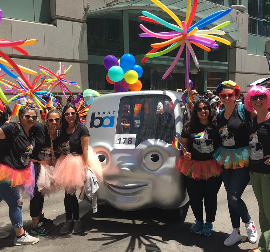 BART at Pride 2018