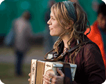 concertgoer with accordion