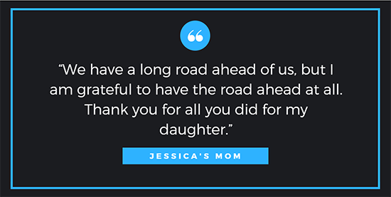 quote from Jessica's mom
