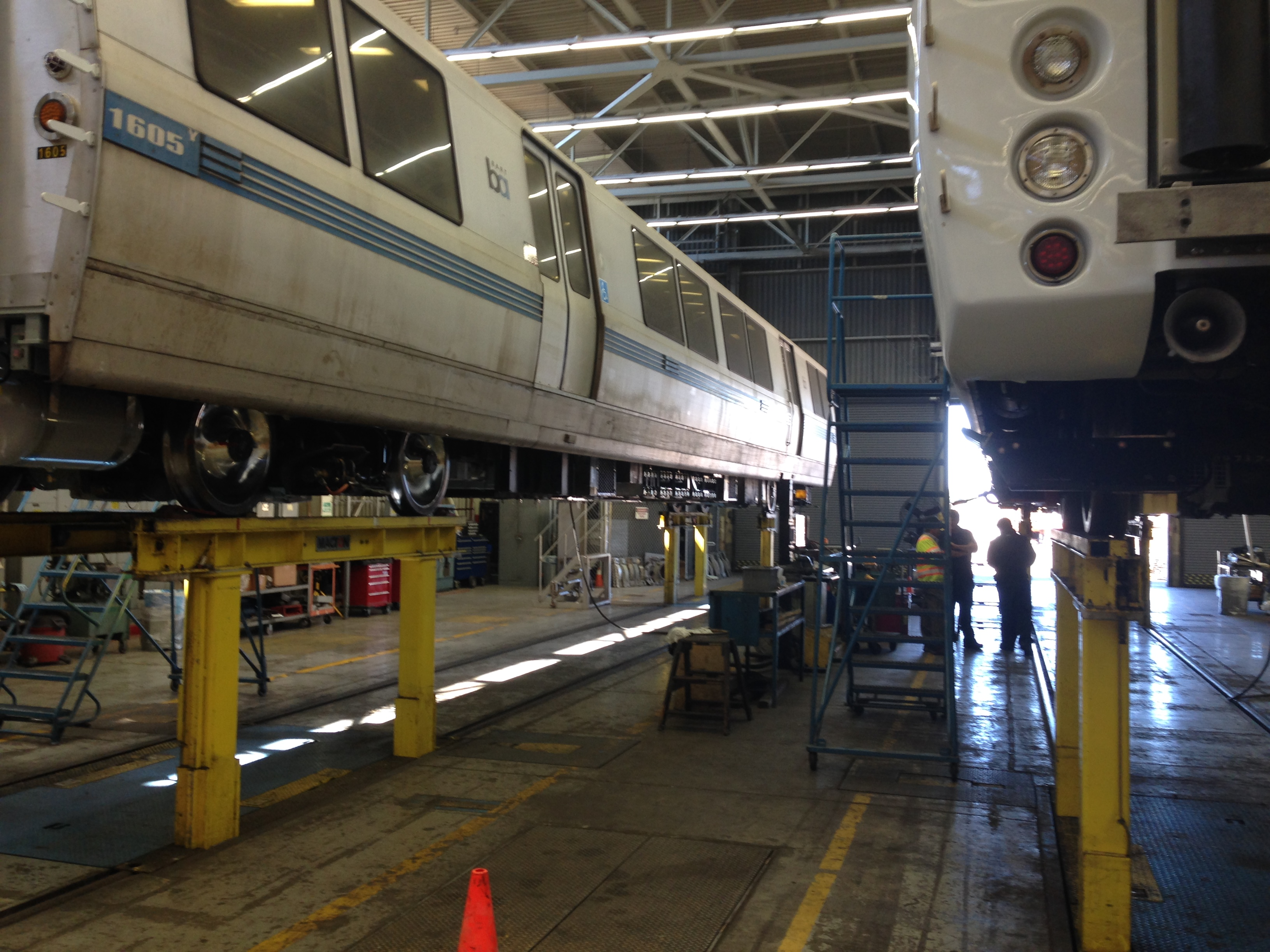 repaired BART trains