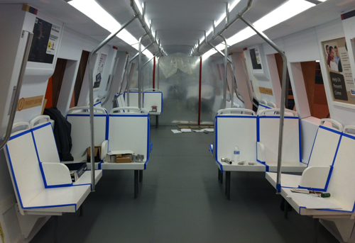 bart invites public to tour mockup of new train car interior july 23 26. Black Bedroom Furniture Sets. Home Design Ideas