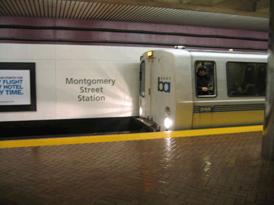 Montgomery station name sign