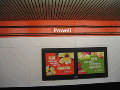 Powell Station sign