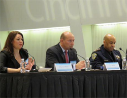Chief Kenton Rainey (right) making presentation on panel