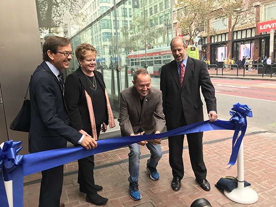 Ribbon cutting for Market Street canopy