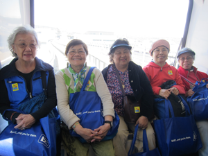 Senior citizens on AirTrain at SFO