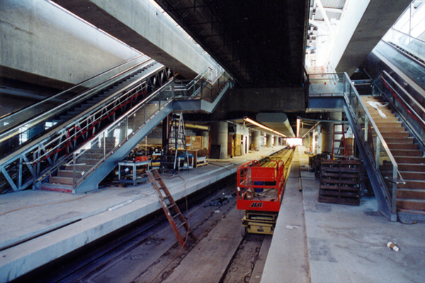 SFO BART Station-Trackway, May 2001