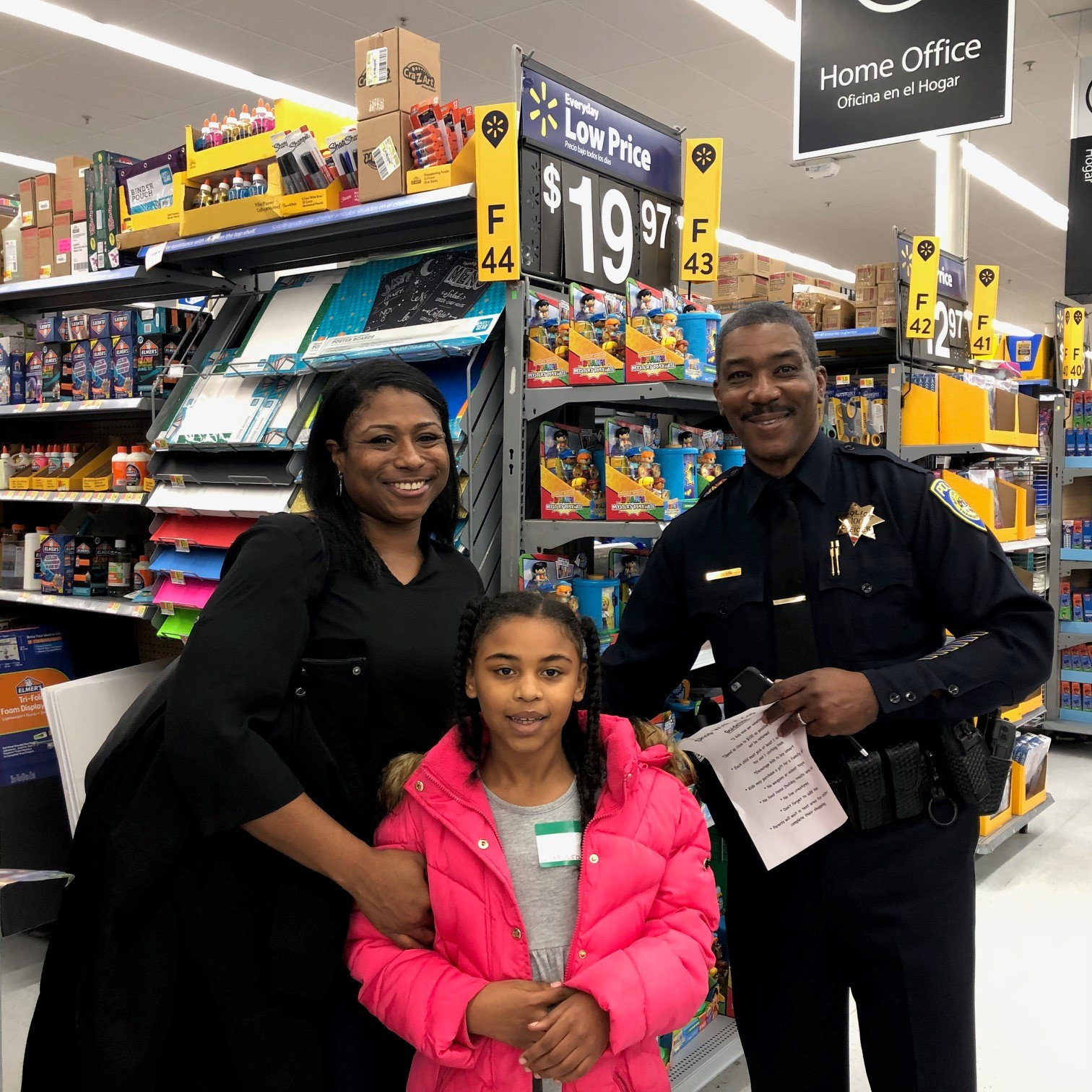 Officer Gary Clark with Zakara and her aunt