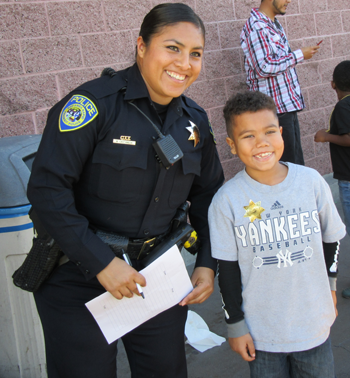 Officer MarySol Castaneda and shopper