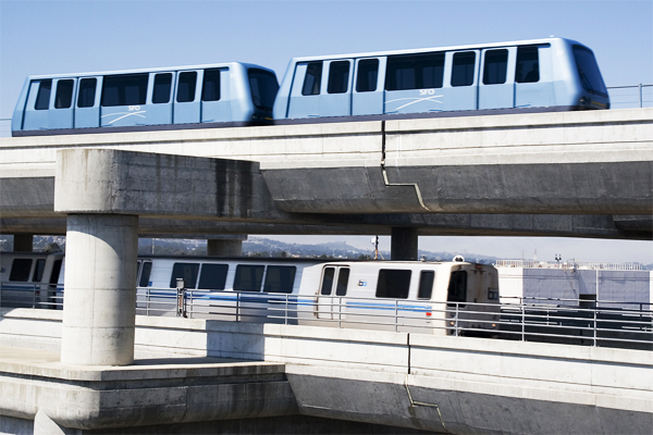 BART and the people mover AirTrain finally blossomed in spring 2013