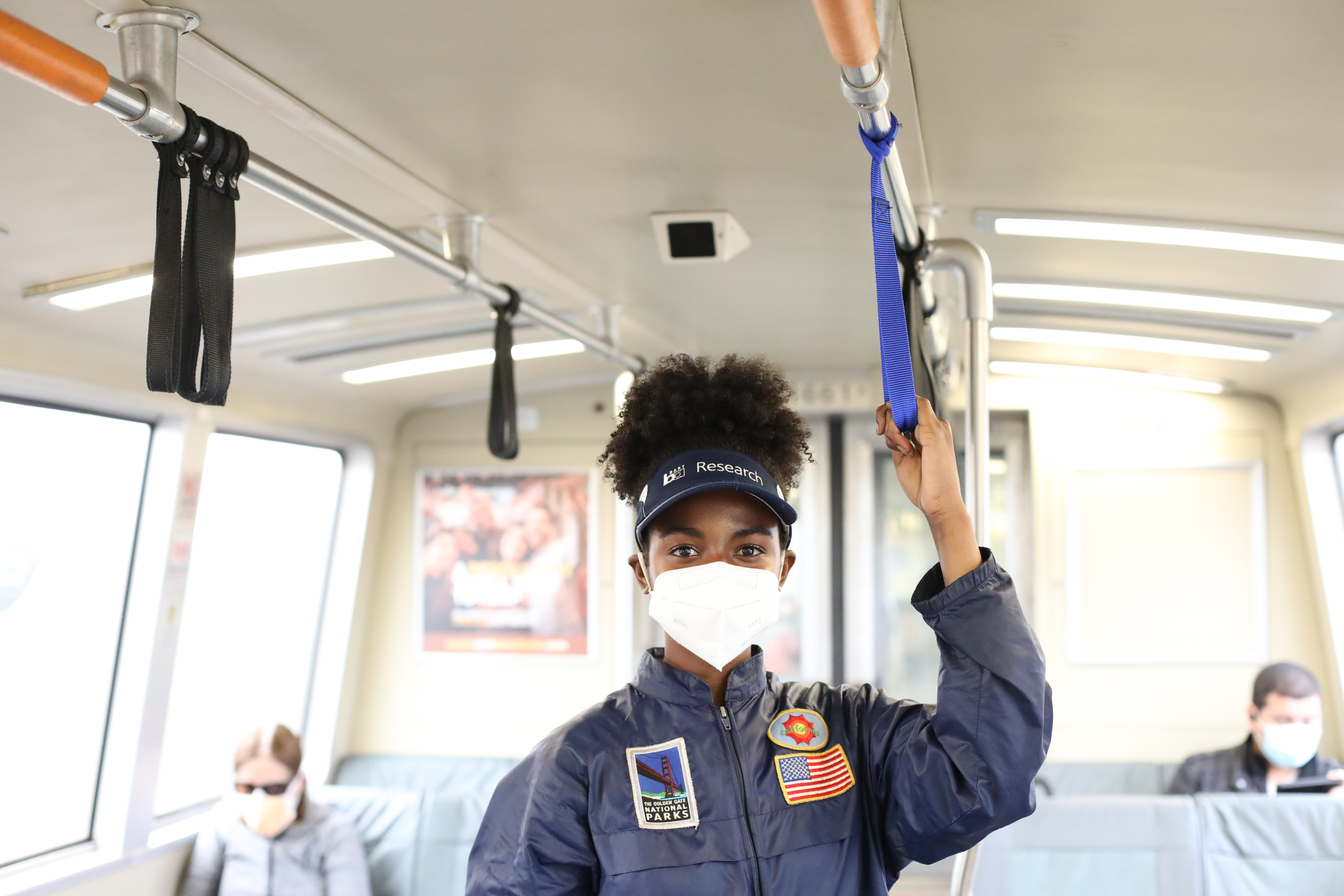 BART staff using a personal hand strap