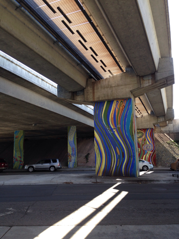 temescal art under BART tracks