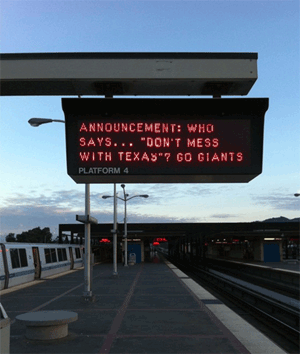 BART station sign