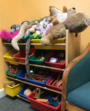 toys in waiting room