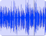 a waveform image of the synthesized voice