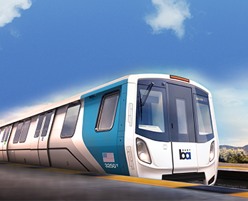 conceptual design of a BART car exterior