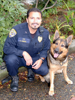 Officer Zamora and K-9 Umar.