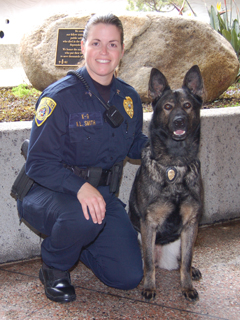 Officer Smith and K-9 Cita.