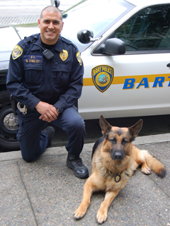Officer Zendejas and K-9 Tim.