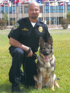 Officer Houston and K-9 Timi.