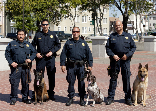 group canine and handler shot