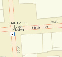 16th St. Mission Station Map