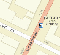 19th St. Oakland Station Map