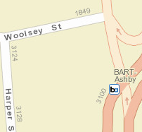 Ashby Station Area Map