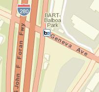 Balboa Park Station Map