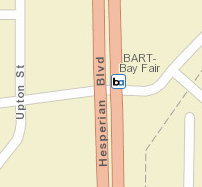 Bay Fair Station Area Map
