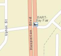 Bay Fair Station Map