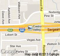 Castro Valley Station Map